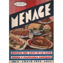 MENAGE. REVISTA DEL ARTE DE LA COCINA Y PASTELERIA MODERNAS