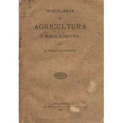 MISCELÁNEA DE AGRICULTURA É HIGIENE ALIMENTICIA