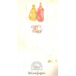 CARTA DE VINOS. CLUB DEL GOURMET. EL CORTE INGLÉS