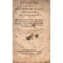 ANALISIS DE LAS AGUAS MINERALES DE GAVÁ EN EL PRINCIPADO DE CATALUÑA