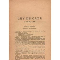 LEY DE CAZA