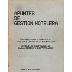 APUNTES DE GESTION HOTELERA