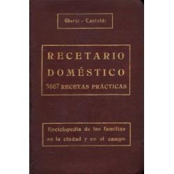 RECETARIO DOMÉSTICO. 5667 RECETAS PRÁCTICAS...