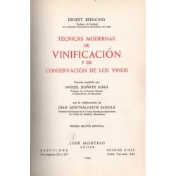 TÉCNICAS MODERNAS DE VINIFICACIÓN Y DE CONSERVACIÓN DE VINOS