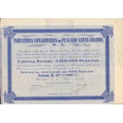 INDUSTRIAS CONSERVERAS DE PESCADO SANTA COLOMA