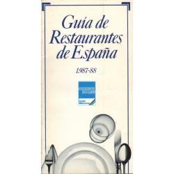 GUÍA DE RESTAURANTES DE ESPAÑA.1987 - 88