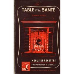 LA TABLE DE LA SANTÉ. MENUS ET RECETTES POUR L'ADAPTATION FACILE ET AGRÉABLE  A L'ALIMENTATION NATURELLE